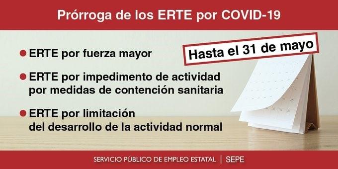 porroga ERTE COVID 19
